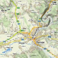 Umístění firmy Josef Plátek v Turnově (pohled na turnovsko)
